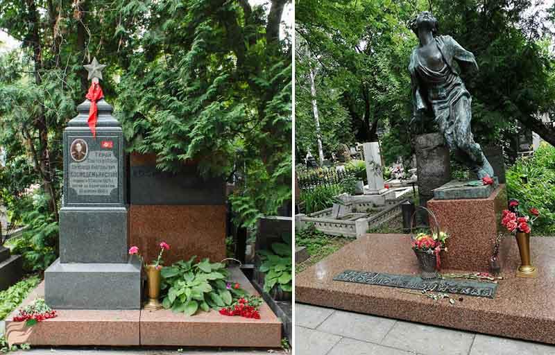 Александр и Зоя Космодемьянские памятник на Новодевичьем кладбище