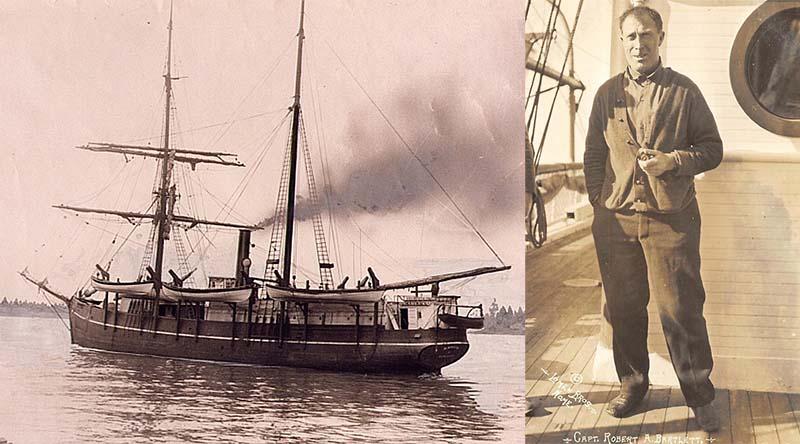 Командиром корабля «Карлак», входящего в состав южного подразделения, был Роберт Бартлетт