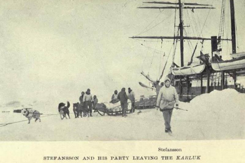 В январе 1914 года судно карлак зажали льды