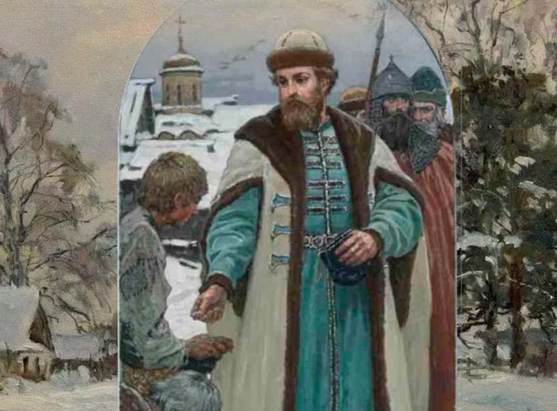 ван Калита провел еще хитрую работу по отношению к боярским дворам.