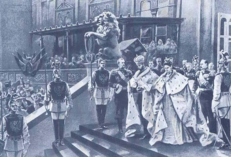 Казусы во время торжества коронации Николая второго