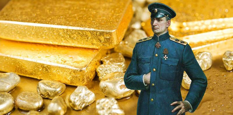 Александр Колчак сосредоточил в своих руках драгоценностей примерно на 13 миллиардов долларов