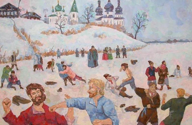 Кулачный бой — это традиционное русское мероприятие