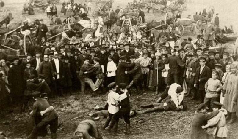 В 19 веке кулачный бой снова был запрещен Николаем I