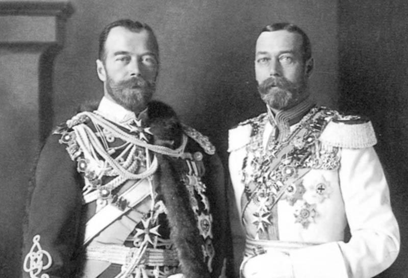 """Георг V и Николай II """"Ники"""" и """"Джорджи"""""""