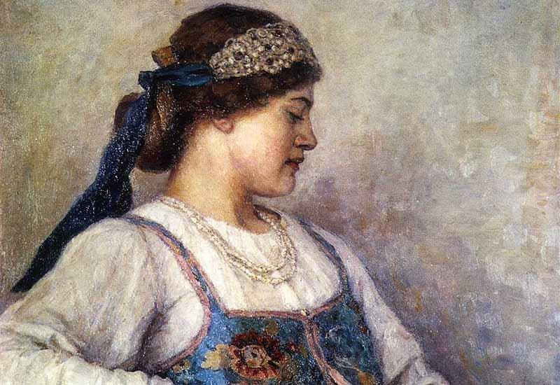 Венец на Руси могла носить только девушка, так как он являлся символом девичества