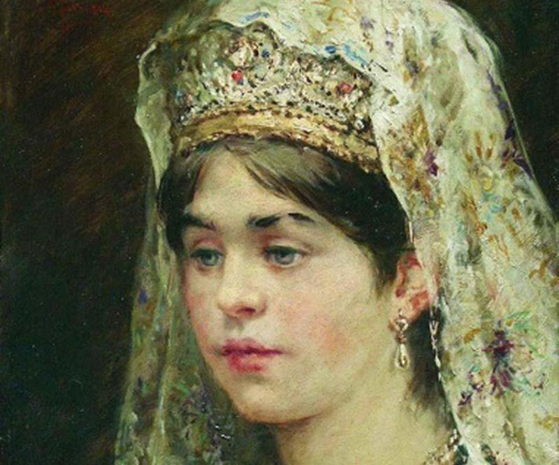 Замужняя женщина могла носить более дорогие серьги со сложными украшениями.
