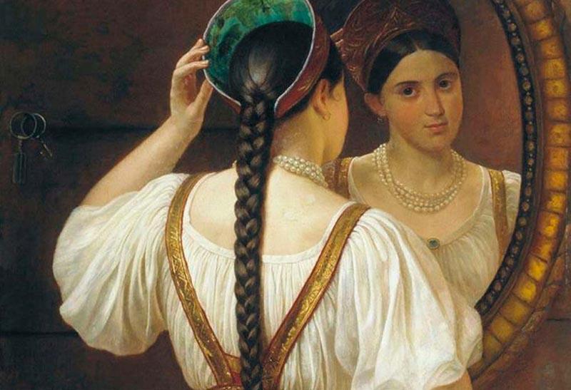 Косу считали одним из главных достоинств во внешности девушки.