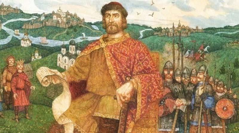 На гербе города Ярославль находится изображение медведицы с алебардой