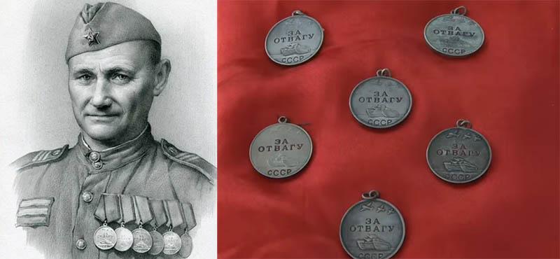 Семен Грецов — советский солдат, которого 6 раз награждали медалью «За отвагу».