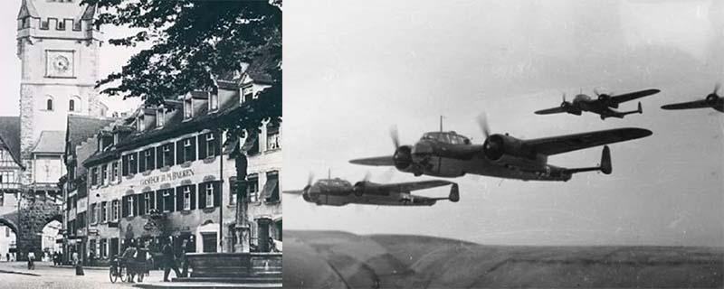 была совершена бомбардировка Фрайбурга, Германия и Франция воевали
