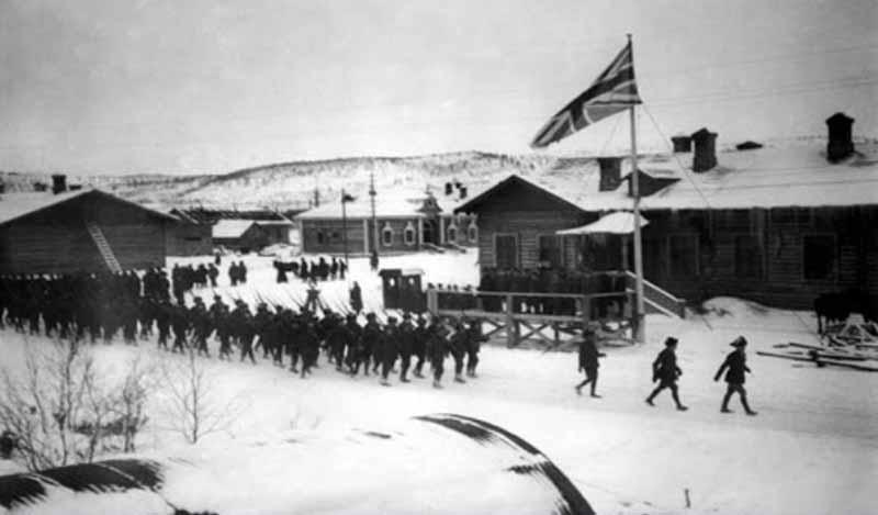 В июне у деревни Романовка большевиками были убиты двадцать солдат США.