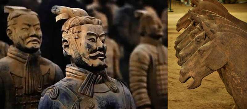 Цинь Шихуанди отдал приказ создать большую армию из глиняных воинов, а когда он уйдет из жизни, похоронить его среди них в мавзолее