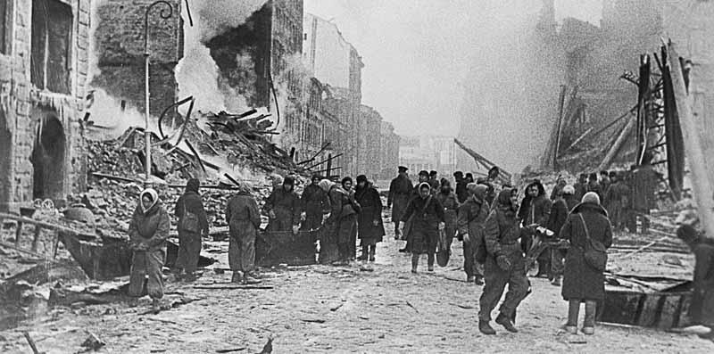 Мужество жителей Сталинграда