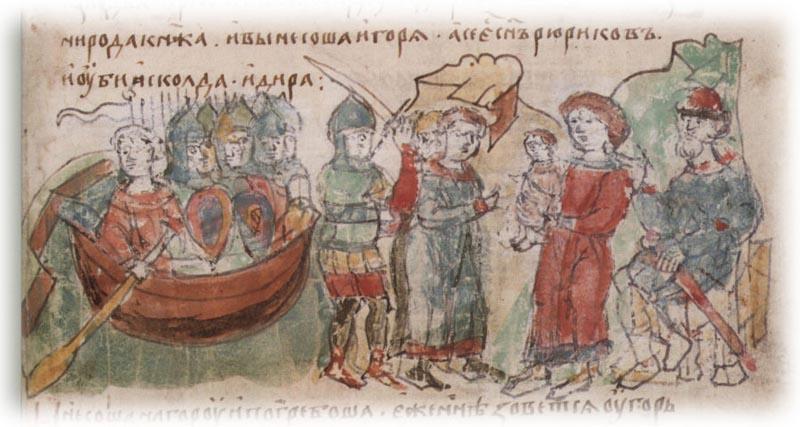Олег Вещий — князь, который управлял страной фактически, так как официально на престоле был малолетний сын Рюрика — Игорь.