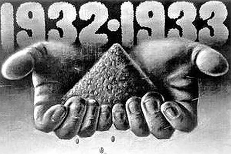 массовый голод 1932-1933 годов на украинской и белорусской, южно-уральской, западно-сибирской территориях, в Казахстане, на Северном Кавказе и в Поволжье.