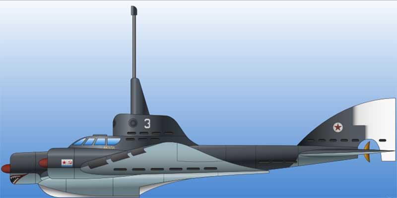проект машины, которая бы позволила передвигаться военным как под водой, так и над ней.