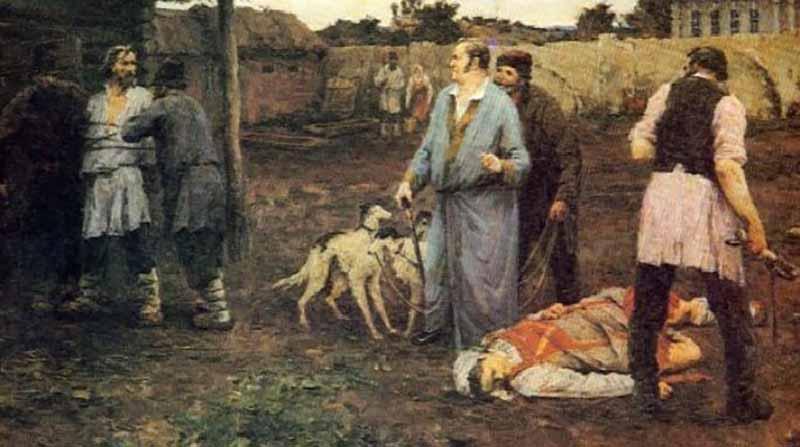 Русские крестьяне полностью зависели от воли помещика издревле и до 1861 года, в котором было отменено крепостное право.