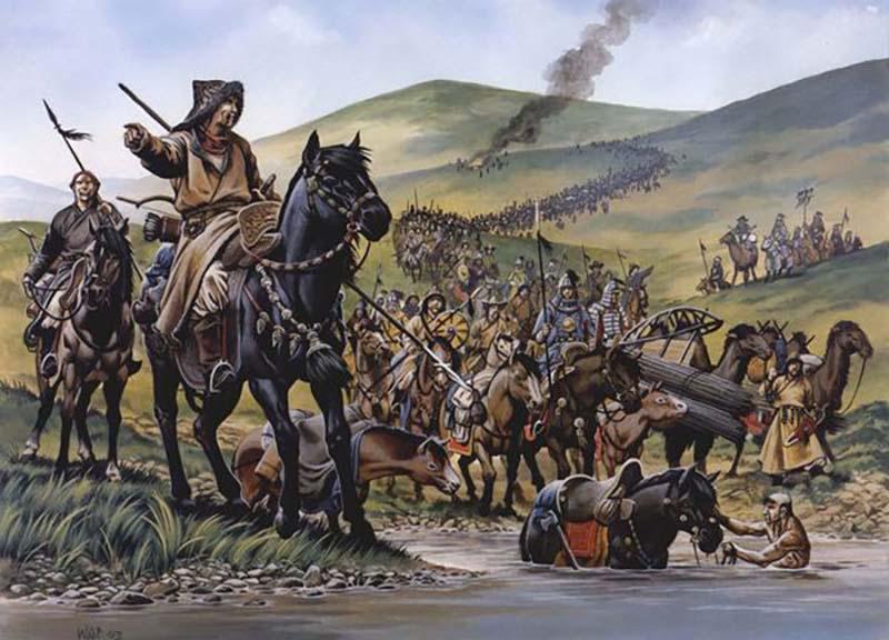 Великий хан Монголии — Чингисхан издавал множество самых разных законов.