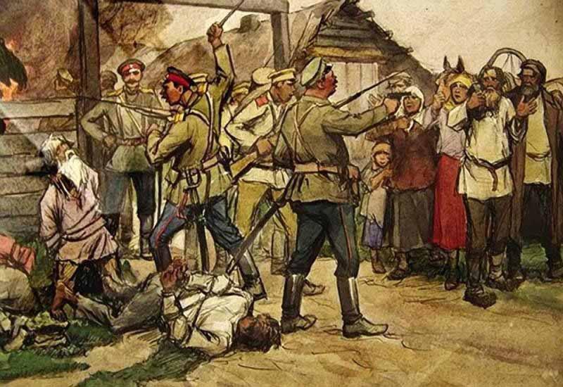 В период с 1917 по 1923 годы Россия была потрясена кровопролитной Гражданской войной.