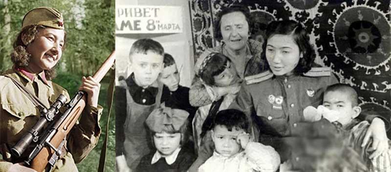За весь период Великой Отечественной войны от пуль Ганиевой скончалось около 130 немцев