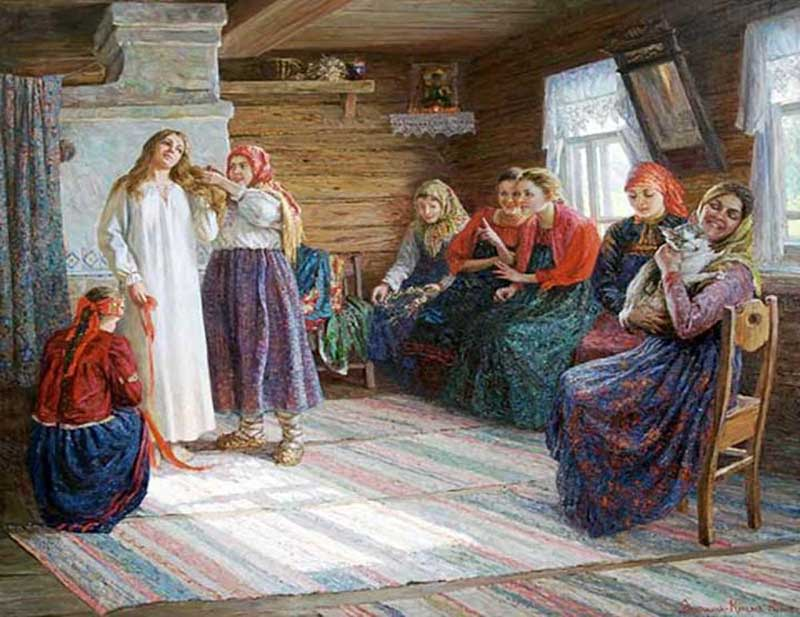 Украшением для них служили косник или лента для девушки и платок для замужних женщин.