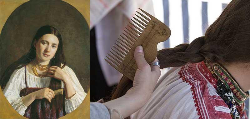 Расчесывать волосы было своеобразным ритуалом.