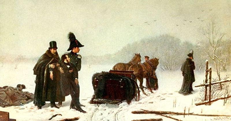Дуэль между Дантесом и Пушкиным произошла в феврале 1837 года.