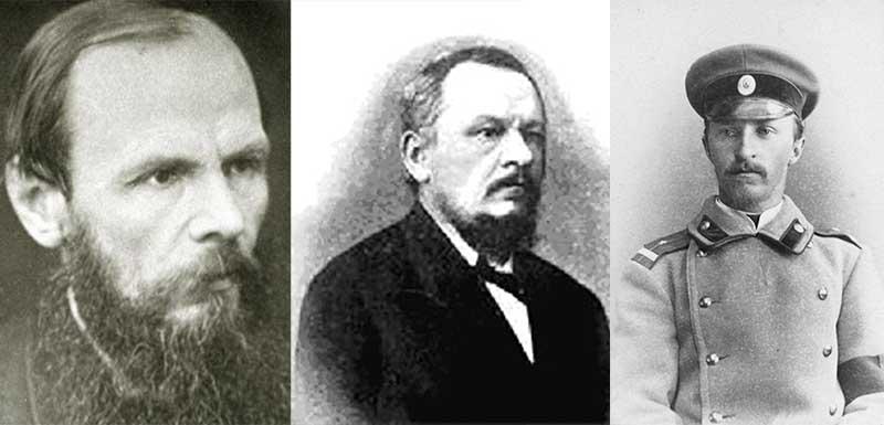 В 1849 году Федора Достоевского приговорили к 4 годам каторги за то, что участвовал в петрашевском революционном кружке.