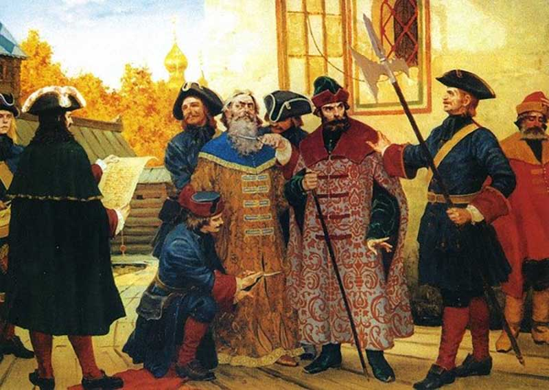 Во времена правления Петра Первого ношение сапог было запрещено