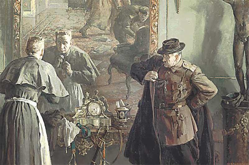 Когда вспоминают Керенского, часто заходит речь о том, что он сбежал из Зимнего дворца, предварительно переодевшись в женский наряд.