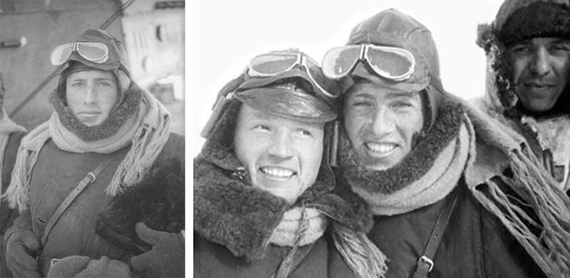 Советский летчик Борис Пивенштейн участвовал в спасательной операции парохода «Челюскин».