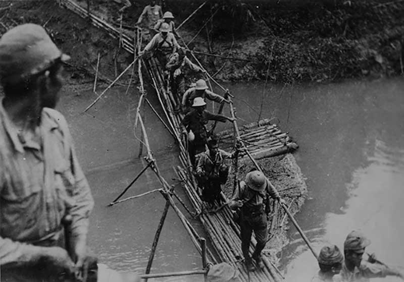Но большая часть японского войска слегла от схваток с огромными крокодилами, которые обитают в этой местности