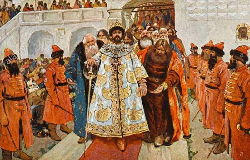 Когда на трон взошел Борис Годунов, он всячески содействовал интересам Англии.