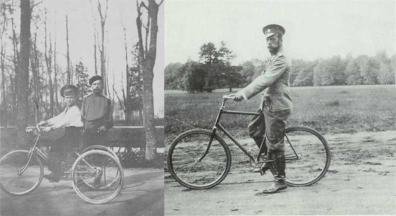 Николаю Второму безумно нравились прогулки на велосипеде.