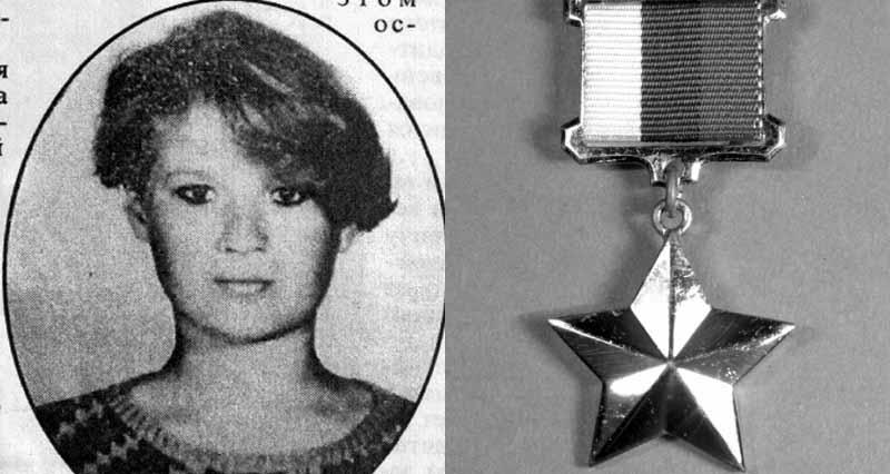 17-летняя сельская девочка Марина Плотникова стала первой девушкой, которая удостоена звания «Герой России», правда, об этом она уже не узнала.