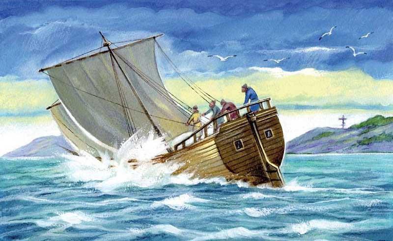 В начале морского плавания в экипаж судна купца Еремея Окладникова входили 14 моряков
