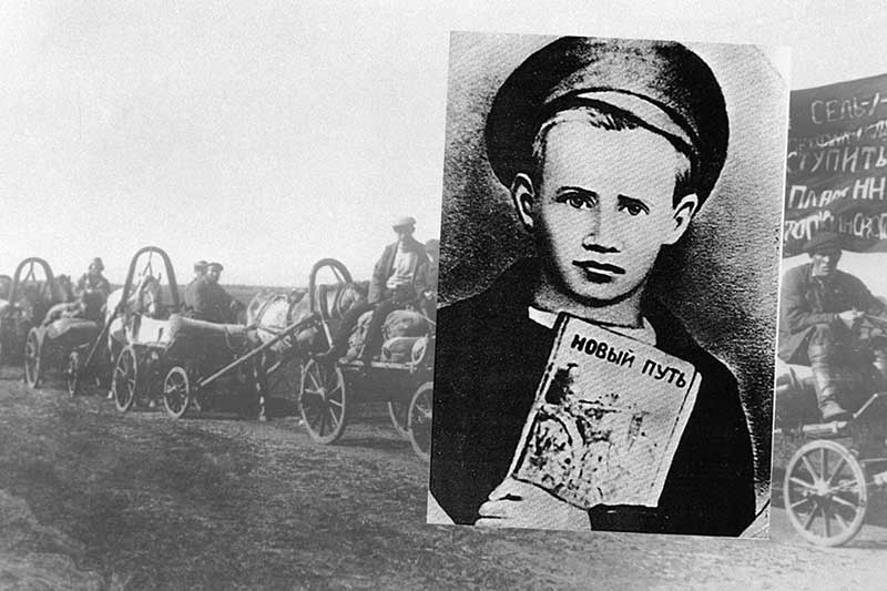 У них обнаружили документы с печатью сельского совета. Крестьяне признались, что пустые бланки были проданы старшим Морозовым.