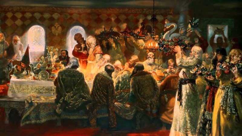 Высокопоставленные чиновники из других стран, которые приглашались за русский стол, испытывали весьма странные ощущения.
