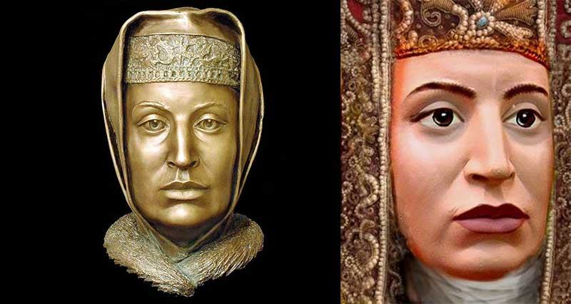 Внешность Софьи слеплена и представлена современному миру по форме ее черепа.