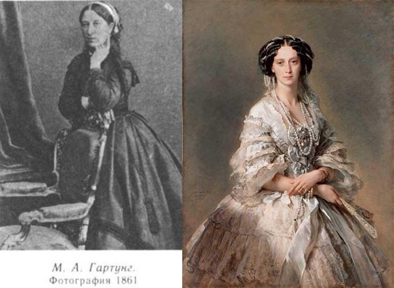 По свидетельствам современников, дочь Александра Сергеевича сразу была замечена графом Толстым.