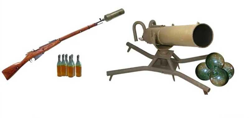 Название орудие получило «Бутылкомет».