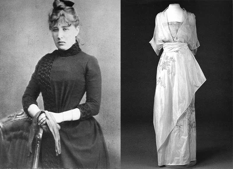 Роскошные платья от Надежды Ламановой покупала сама Александра Федоровна.