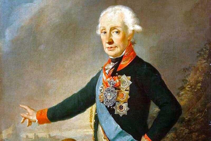 Великий русский Александр Суворов одерживал победу в каждой битве.